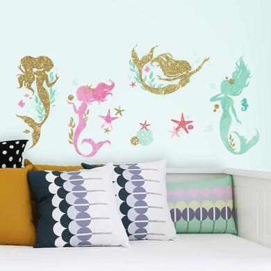 Wanddekoration - RoomMates® Glitzer Meerjungfrauen  - Onlineshop Babymarkt