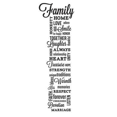 Wanddekoration - RoomMates® Schriftzug Familie  - Onlineshop Babymarkt