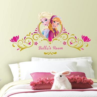Wanddekoration - RoomMates® Disney Wandsticker Frozen Anna und Elsa, personalisierbar  - Onlineshop Babymarkt