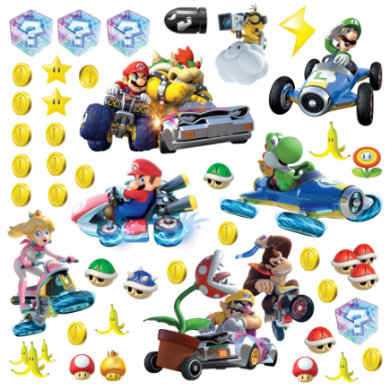 Wanddekoration - RoomMates® Mario Kart mit Freunden  - Onlineshop Babymarkt