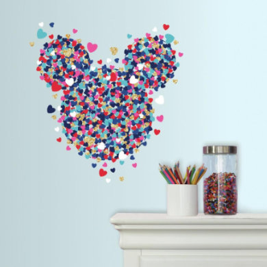 Wanddekoration - RoomMates® Disney Minnie Mouse Confetti Herz  - Onlineshop Babymarkt