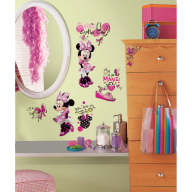 Wanddekoration - RoomMates® Disney Minnie Mouse Fashionista  - Onlineshop Babymarkt