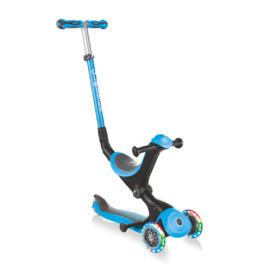 Roller - GLOBBER Scooter GO UP Deluxe lights, skyblau - Onlineshop