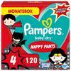 Pampers Baby-Dry Pants Warner Brothers, talla 4, 9-15kg, caja mensual (1 x 120 pañales)