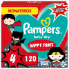 Pampers Couches Baby-Dry Pants T.4 Warner Brothers, 9-15kg pack mensuel 1x120 pièces