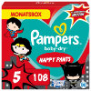 Pampers Baby-Dry Pants, Gr. 5 Junio Warner Brothers, 12 -17kg, Monatsbox (1 x 108 Höschenwindeln)
