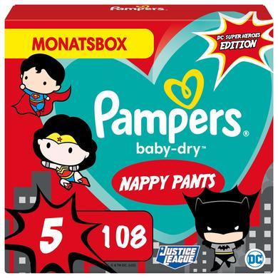 Image of Pampers Baby-Dry Pants, maat 5 Junio Warner Brothers, 12 -17kg, maandbox (1 x 108 luiers)