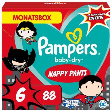 Image of Pampers Baby-Dry Inlegluiers, maat 6 Extra Large Warner Brothers, 15+kg, maandbox (1 x 88 inlegluiers)
