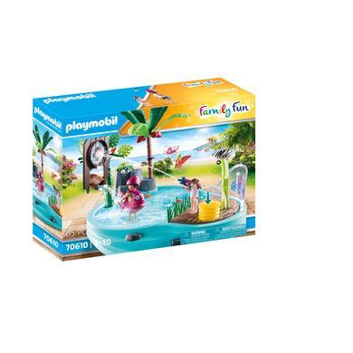 PLAYMOBIL ® Family Fun zábavný bazén s rozprašovačem vody 70610