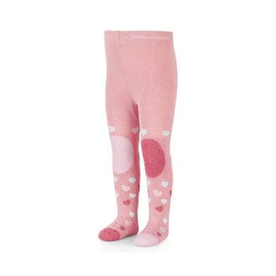 Sterntaler Krabbelstrumpfhose Herzen rosa