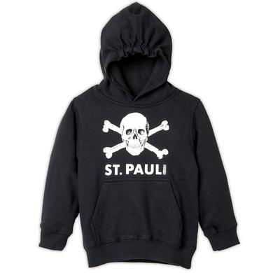 St. Pauli Kinder Kapuzenpullover Totenkopf schwarz