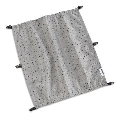 CROOZER Zonnescherm Stone grijs/ color ed voor Kid tweezitter