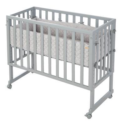 Kinderbetten - roba Stuben Beistellbett 3in1 mit Barriere Style grau  - Onlineshop Babymarkt