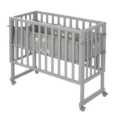 Kinderbetten - roba Stuben Beistellbett 3 in 1 mit Barriere Little Stars safe asleep®  - Onlineshop Babymarkt
