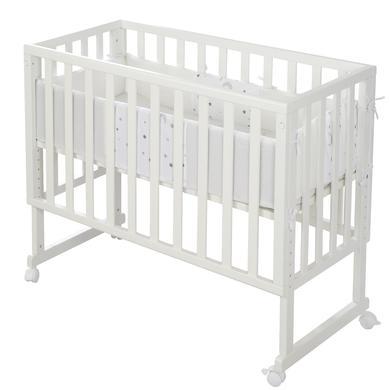 Kinderbetten - roba Stuben Beistellbett 3in1 mit Barriere Sternenzauber grau safe asleep®  - Onlineshop Babymarkt