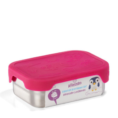 Image of Affenzahn Brotdosen Set: Eule, pink