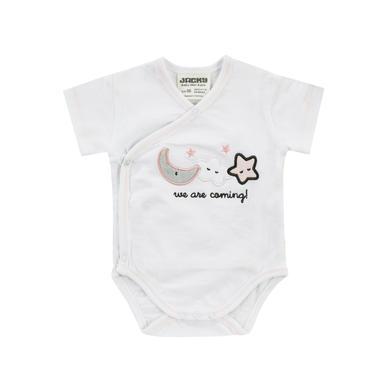 Babywaesche - JACKY Wickelbody kurzarm WELCOME weiß rosa - Onlineshop Babymarkt
