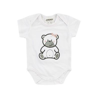 Babywaesche - JACKY Body kurzarm WELCOME weiß rosa - Onlineshop Babymarkt