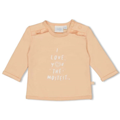 Babyoberteile - Feetje Longsleeve I Love You Hearts pfirsich - Onlineshop Babymarkt