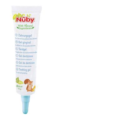 Nûby Zahnungsgel 15 g und Zahnungshilfe aus Silikon All Natural Kombipack