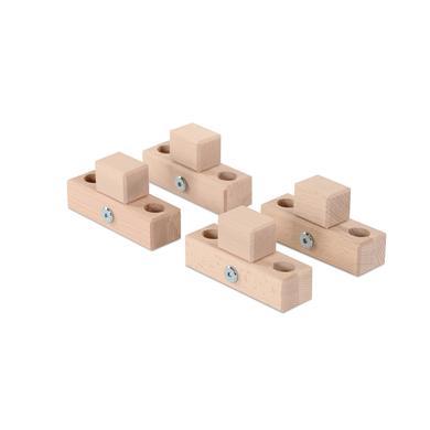 babybay® Verbindungsbacken zum Laufstall passend für Modell Original, Midi, Maxi und Boxspring, natur unbehandelt