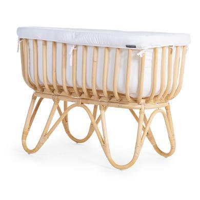 Stubenwagen und Wiegen - CHILDHOME Wiege Rattan rechteckig mit Nestchen und Matratze  - Onlineshop Babymarkt