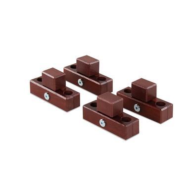 babybay® Verbindungsbacken zum Laufstall passend für Modell Original, Midi, Maxi und Boxspring dunkelbraun lackiert
