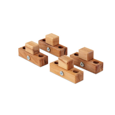 babybay® Verbindungsbacken zum Laufstall passend für Modell Original, Midi, Maxi und Boxspring Kernbuche geölt