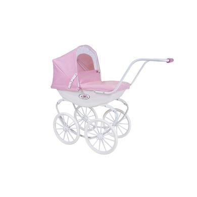 knorr® toys kočárek pro panenky Class ic kočárek růžový/bílý