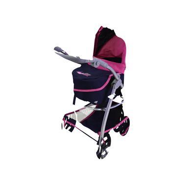knorr® toys kočárek pro panenky Coco flying heart s navy/pink