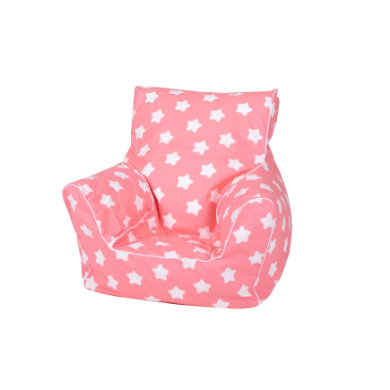 Sitzmöbel - knorr® toys Kindersitzsack Pink white stars  - Onlineshop Babymarkt