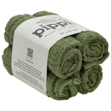 Image of Pippi Waschtücher deep lichen green 4er-Pack