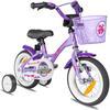 """PROMETHEUS BICYCLES® Kinderfahrrad 12"""" ab 3 Jahre mit Stützräder in Violett & Weiß"""