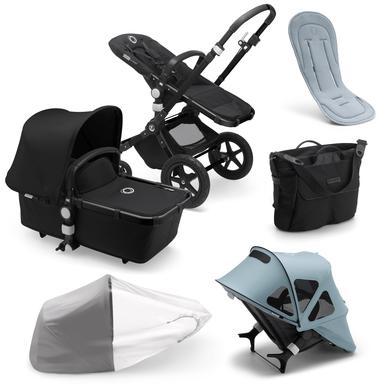 bugaboo Kombinovaný kočárek Cameleon 3 Plus Kompletní Black / Black Summer Set Vapor Blue