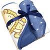 HÜTTE & CO toalla de baño con capucha paquete doble azul