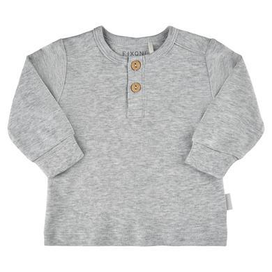 Babyoberteile - FIXONI Langarm Shirt Grey Melnage - Onlineshop Babymarkt