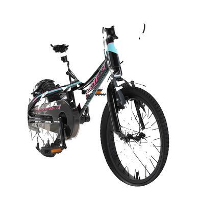 Kinderfahrrad - bikestar Kinderfahrrad Alu Mountainbike 16 Schwarz Blau - Onlineshop
