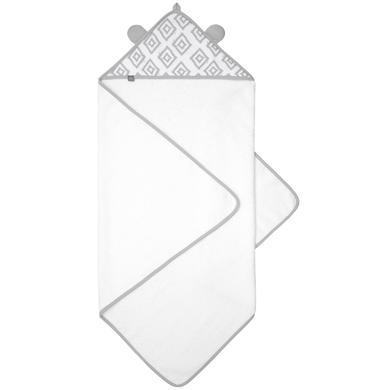 emma & noah capuchon handdoek diamonds grijs 80 x 80 cm