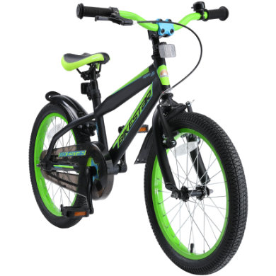 Kinderfahrrad - bikestar Kinderfahrrad Urban Jungle 18 Schwarz Grün - Onlineshop
