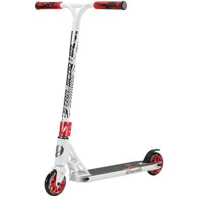 Roller - STAR SCOOTER® Freestyle Aluminium Jump Stunt Scooter 110mm Räder Weiß Rot - Onlineshop