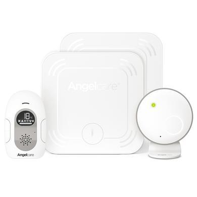 Angel care ® SmartSensor Pro 2: 2-in-1 babyfoon met audio- en bewegingsdetectie met twee draadloze sensormatten