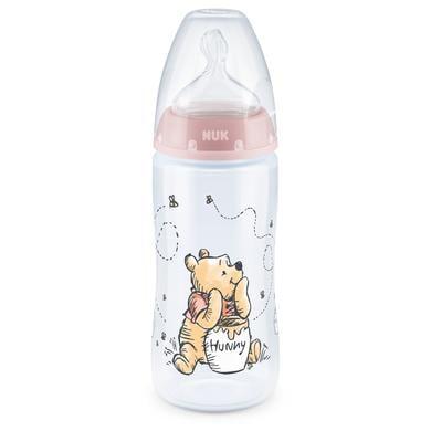 NUK Babyfles First Choice + Disney Winnie The Pooh 300 ml, in roze