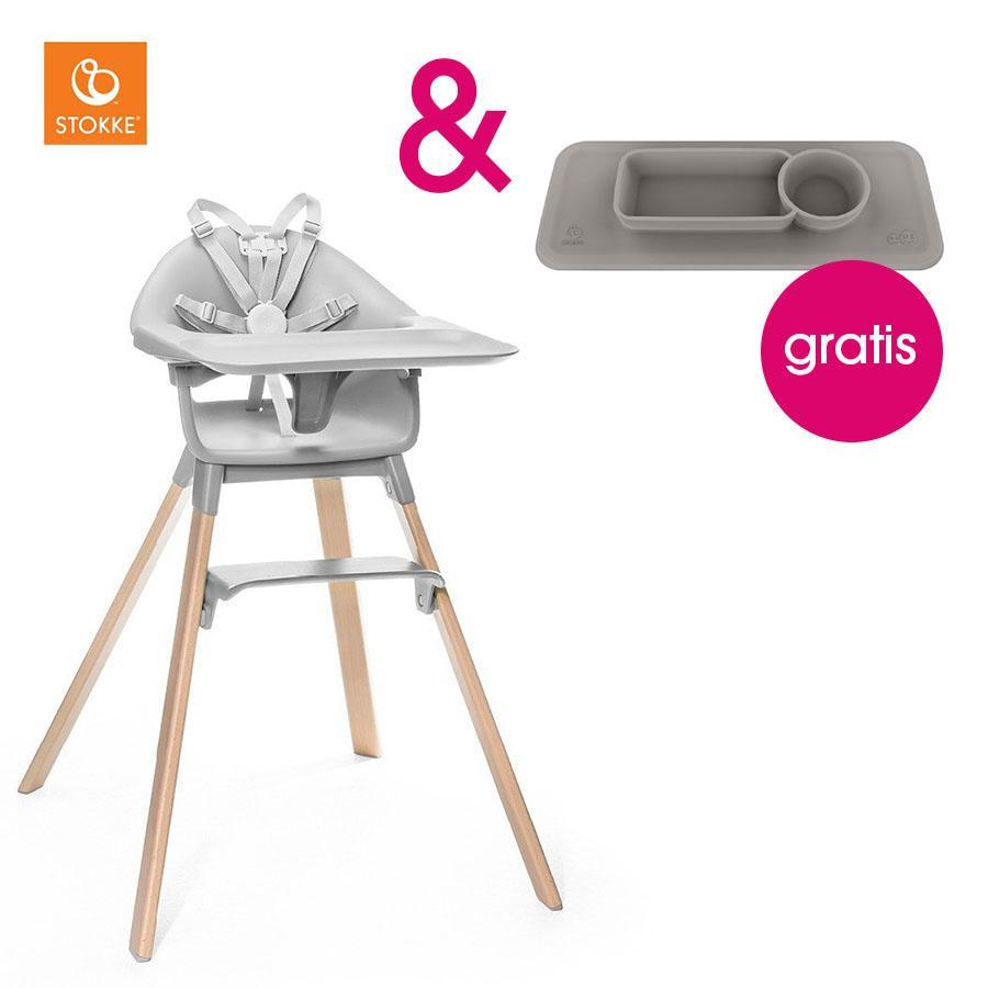 Hochstühle - STOKKE® CLIKK™ Hochstuhl Grey mit Gratis ezpz™ Platzset grey  - Onlineshop Babymarkt
