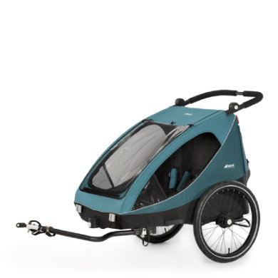 hauck 2in1 fietskar en buggy Dryk Duo Petrol
