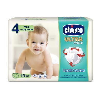 Image of chicco Luiers Ultra- maat 4 Maxi, 8-18 kg, 19 stuks
