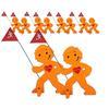 BEACHTREKKER Streetbuddy Warnfigur für mehr Kindersicherheit - orange 10er Set