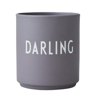 Design Letters Favorite Cups, porseleinen mok, grijs, 250 ml