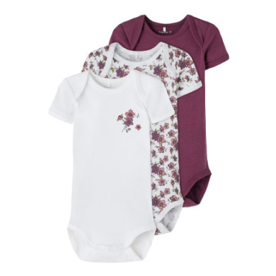 Babywaesche - name it Body 3er Pack Prune Purple - Onlineshop Babymarkt