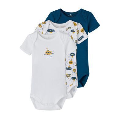 Babywaesche - name it Body 3er Pack Legion Blue - Onlineshop Babymarkt