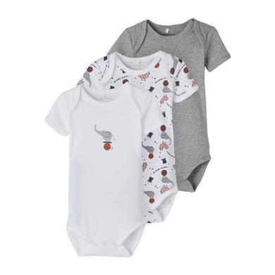 Babywaesche - name it Body 3er Pack Grey Melange - Onlineshop Babymarkt